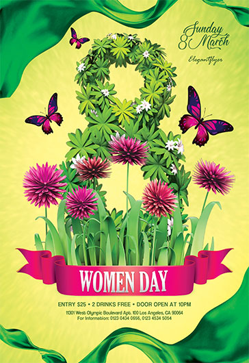 International Women Day V02 – Flyer PSD Template