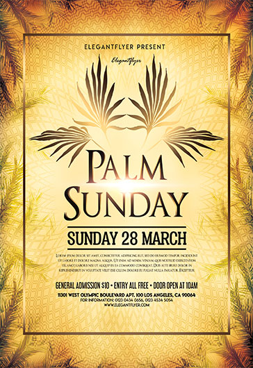 Palm Sunday – Flyer PSD Template