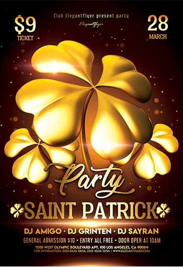 St. Patrick's Day Party V03 – Flyer PSD Template