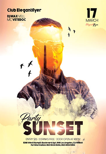Sunset Party – Flyer PSD Template