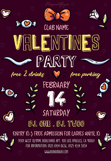 Free Flyer for Valentines Party