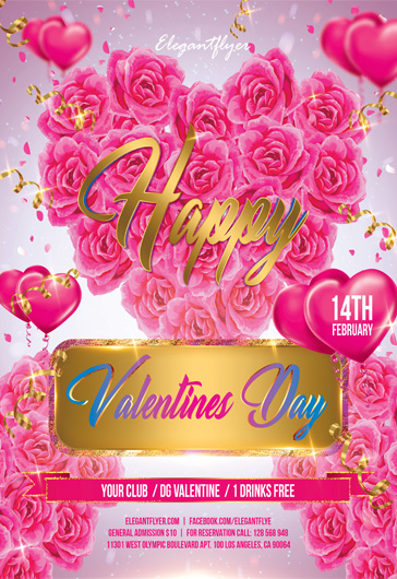 Valentines day – Flyer PSD Template