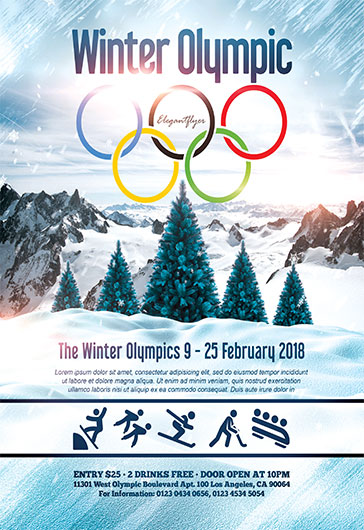 Winter Olympic – Flyer PSD Template