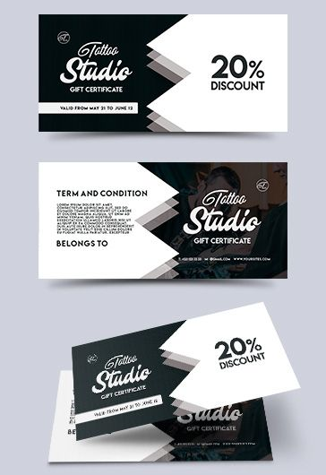 Spa – Free Gift Certificate PSD Template