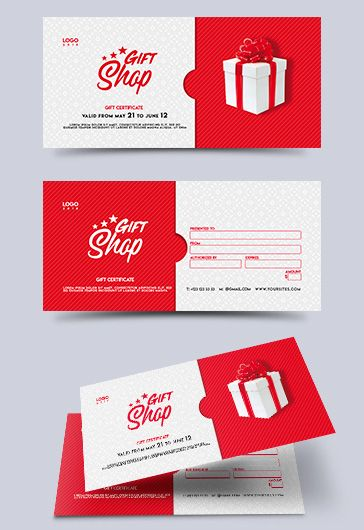 Barbershop – Gift Certificate PSD Template