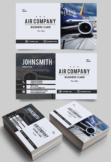 Aerial Photography Business Card Template