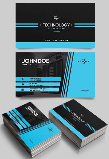 Free business cards templates for photoshop by elegantflyer technology free business card templates psd wajeb Images