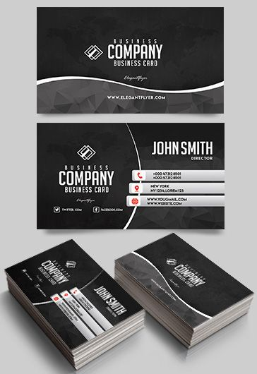 Free business cards templates for photoshop by elegantflyer business company free business card templates psd fbccfo Images