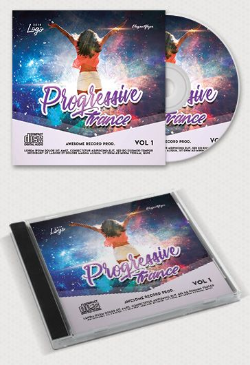 Progressive Trance – Free CD Cover PSD Template