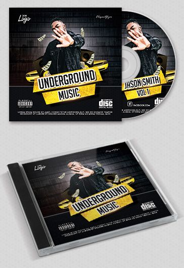 Undergraund Music – Premium CD Cover PSD Template