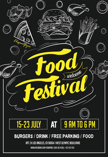 food festival  u2013 flyer psd template  u2013 by elegantflyer