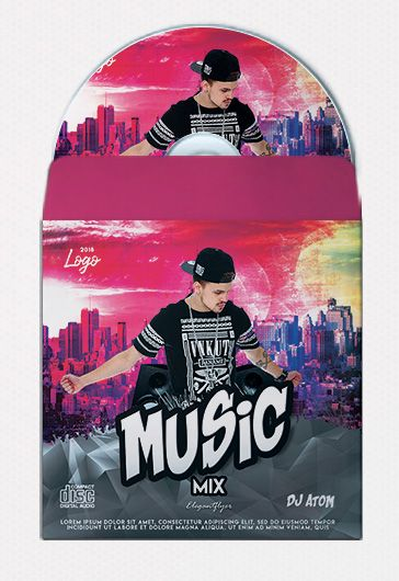 Music Mix – Free CD Cover PSD Template