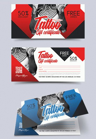tattoo gift voucher  u2013 by elegantflyer