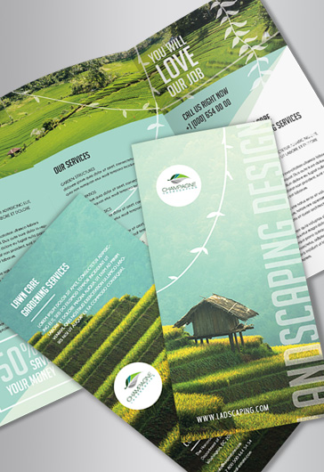 Free Landscaping – Tri-Fold PSD Brochure Template
