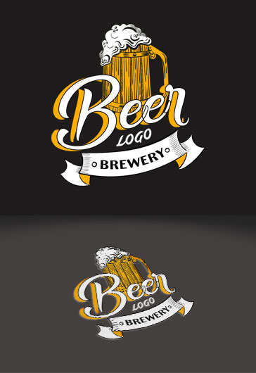 Beer Brand Logo Template