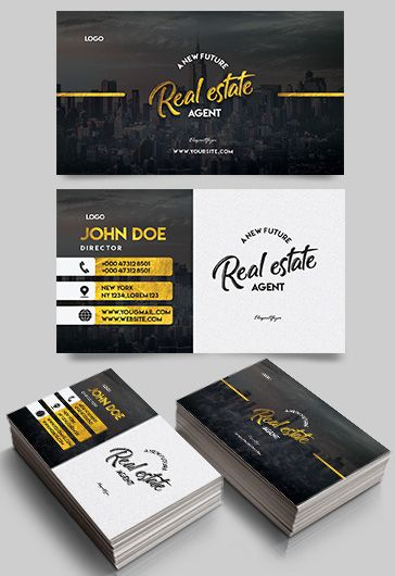 Real Estate – Premium Business Card Templates PSD