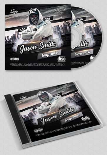 Trap Mix – Premium CD Cover PSD Template