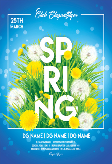Party Flyer For Spring