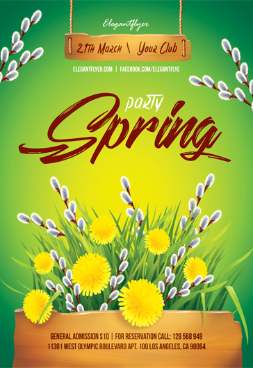 Spring party – Flyer PSD Template