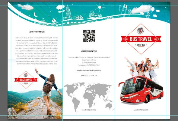 How To Customize A Free Brochure Template In Photoshop By Elegantflyer