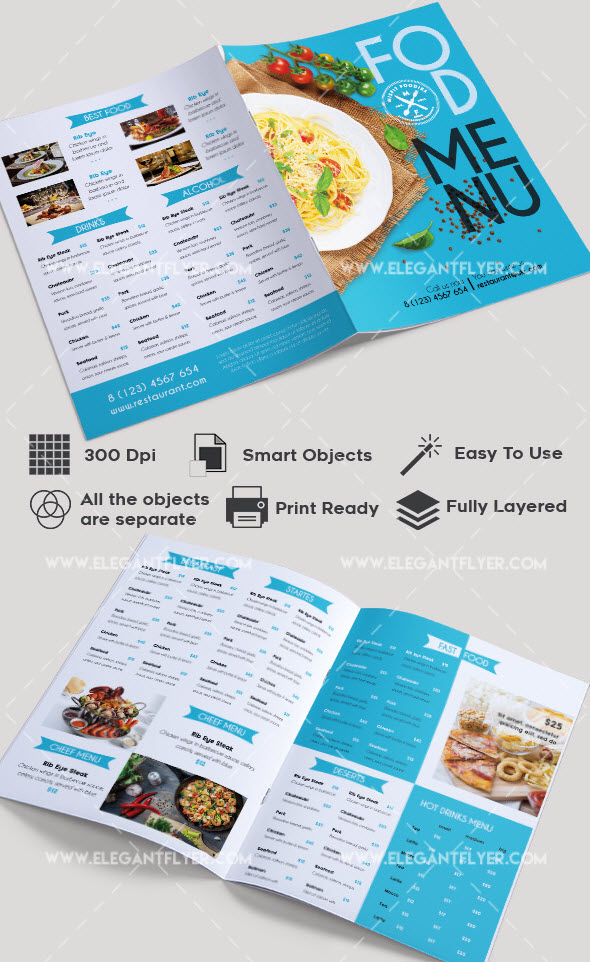 Free Brochure Templates For Food Health Beauty And Travel - Free downloadable brochure templates