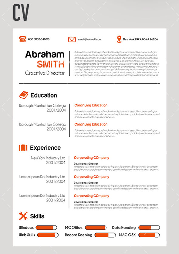 11 free downloadable cv and resume templates