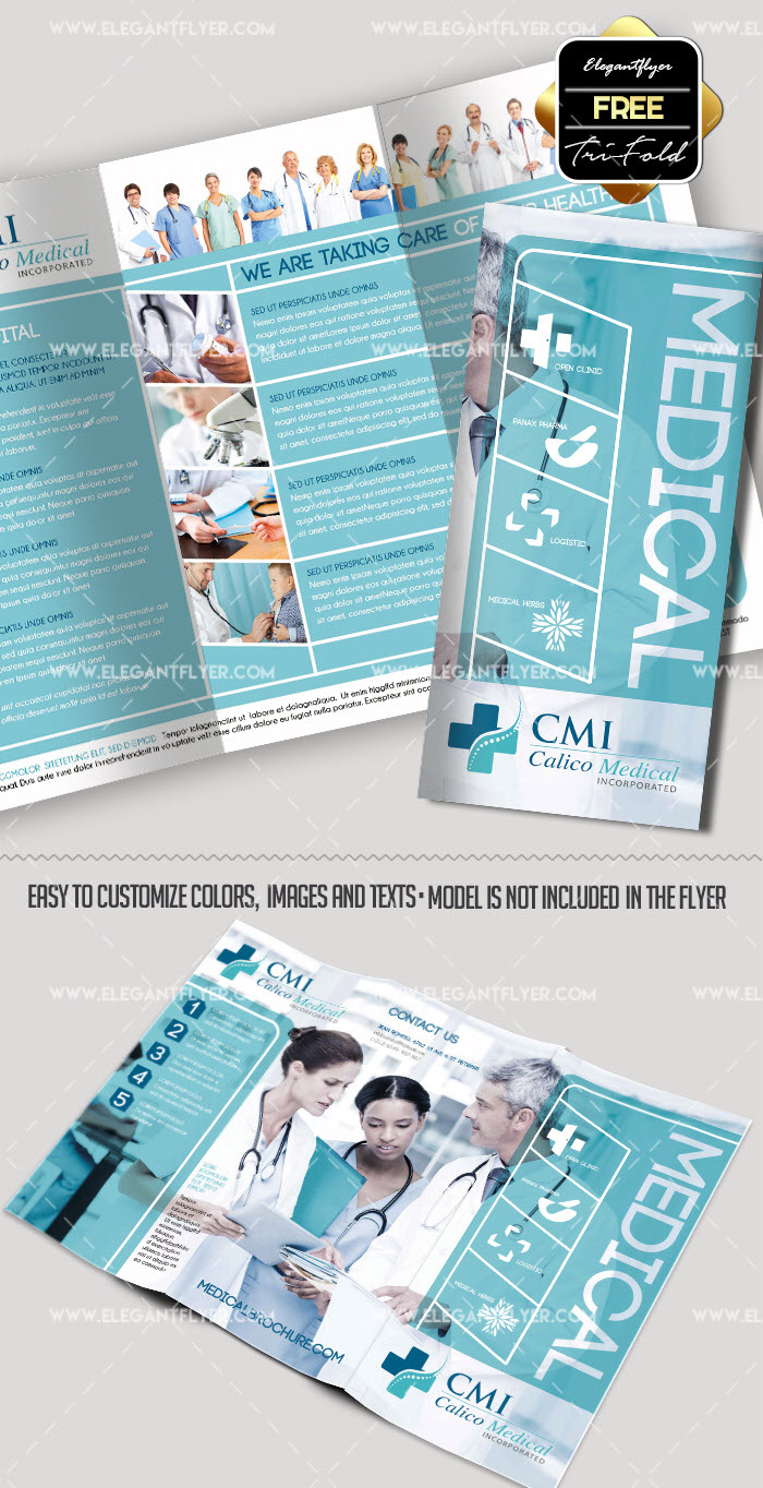 healthcare brochure templates free - 30 free brochure templates for food health beauty and