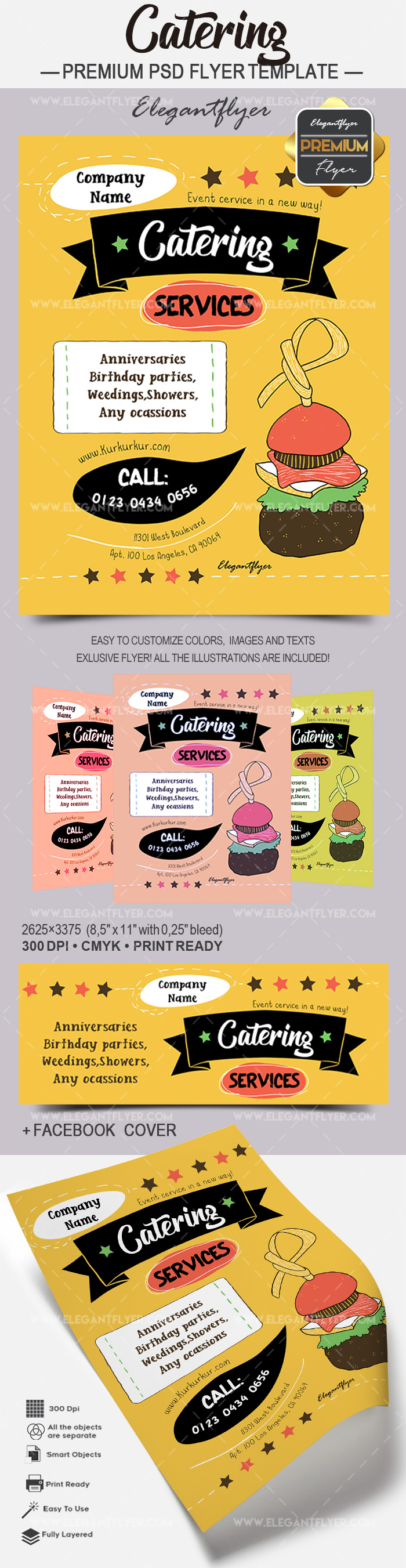 Catering – Premium Flyer PSD Template