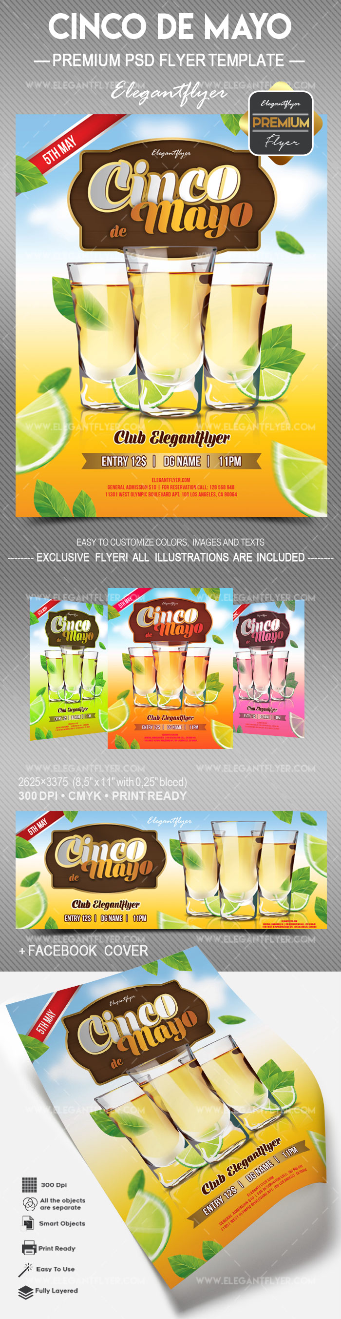 Cinco de Mayo v02 – Flyer PSD Template