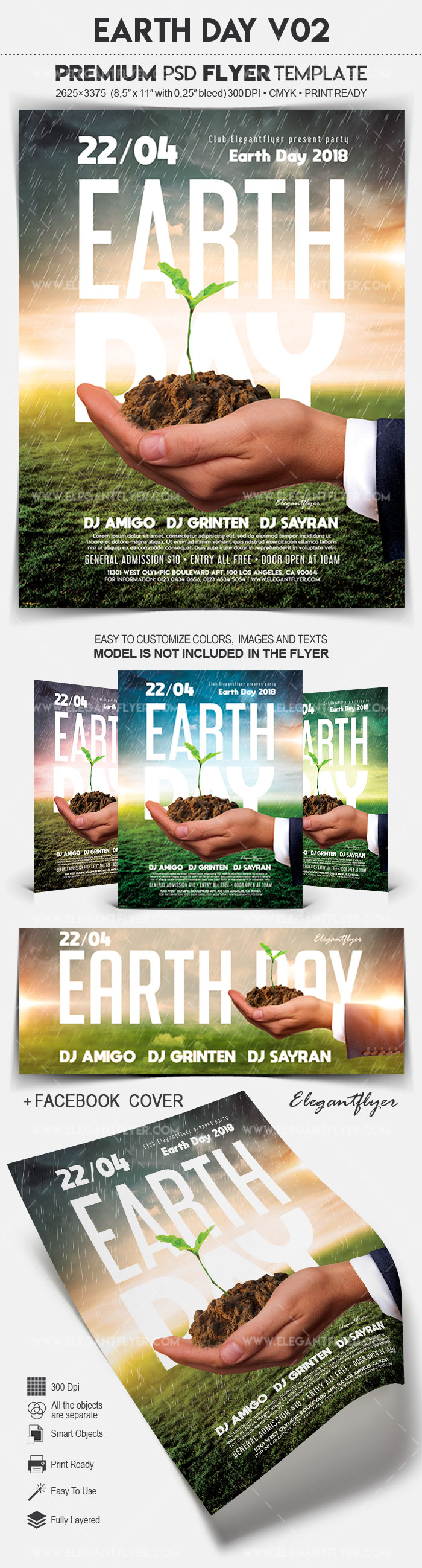 Earth Day V02 – Flyer PSD Template