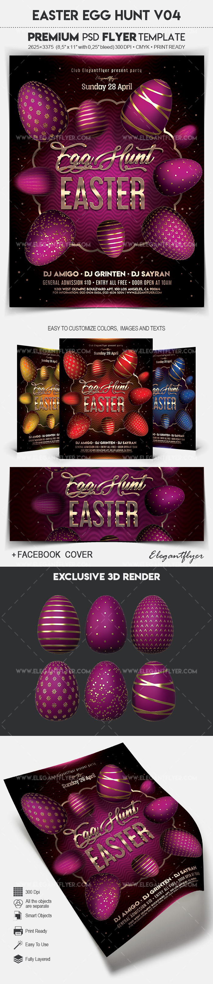 Easter Egg Hunt V04 – Flyer PSD Template