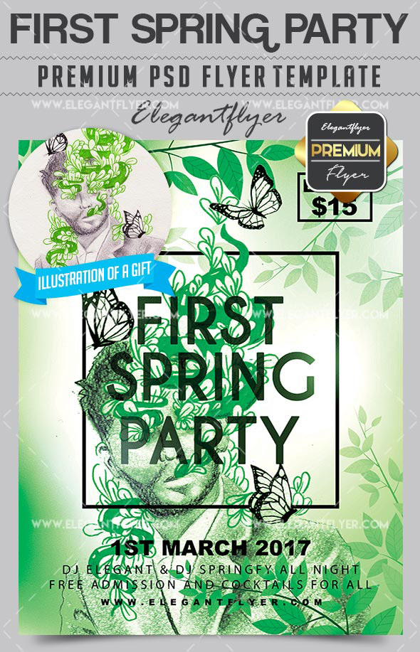 Are you ready for Spring? 20 Awesome PSD Flyer Templates ...