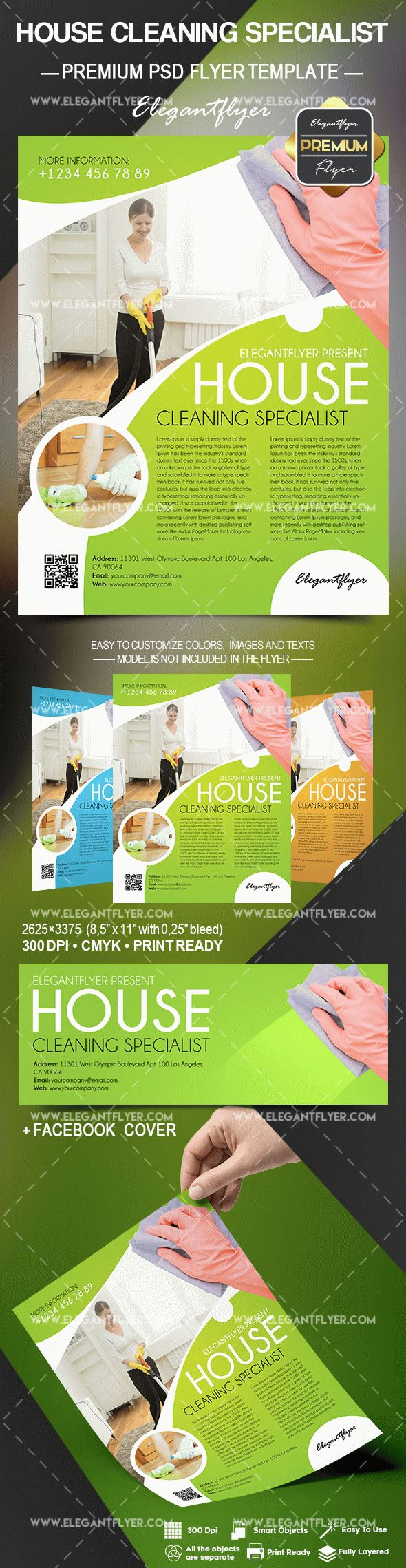 House Cleaning Specialist – Flyer PSD Template