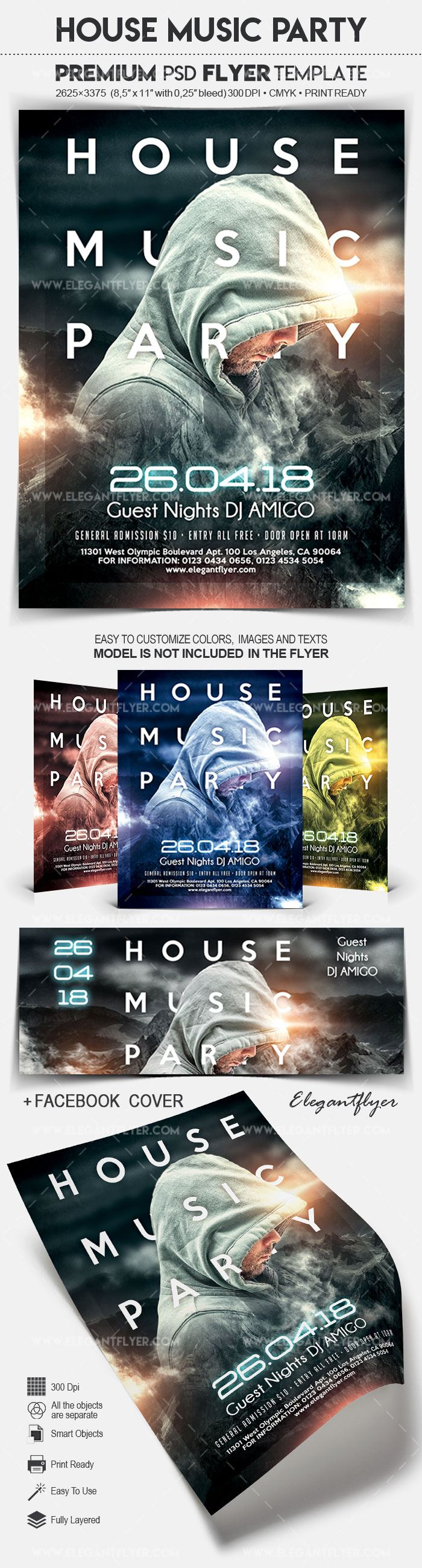House Music Party – Flyer PSD Template