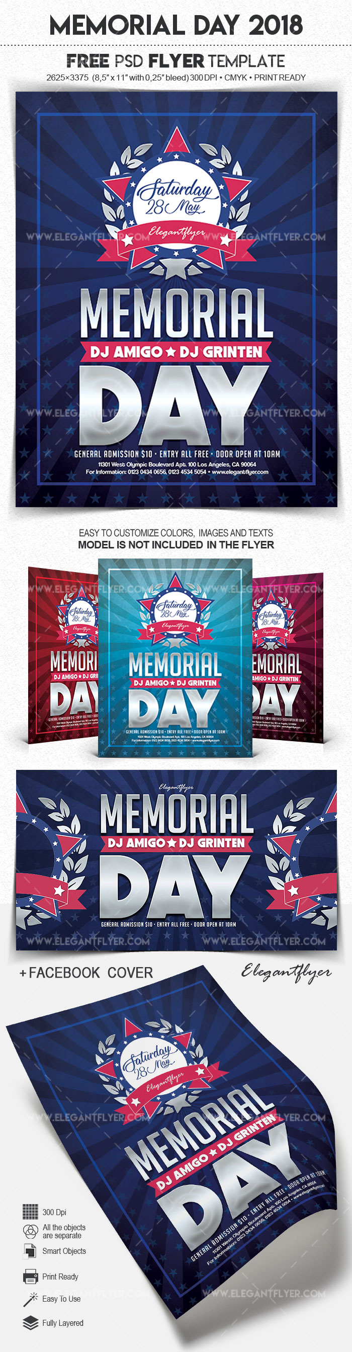 Memorial Day 2018 – Free Flyer PSD Template