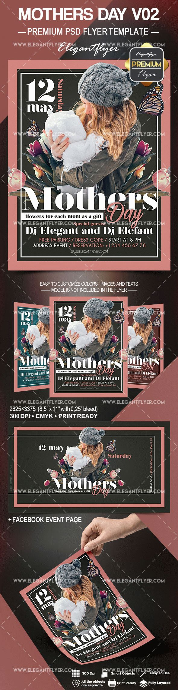 Template for Mothers Day V02