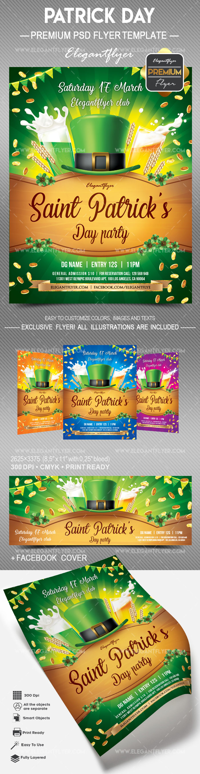 st  patrick day party  u2013 flyer psd template  u2013 by elegantflyer