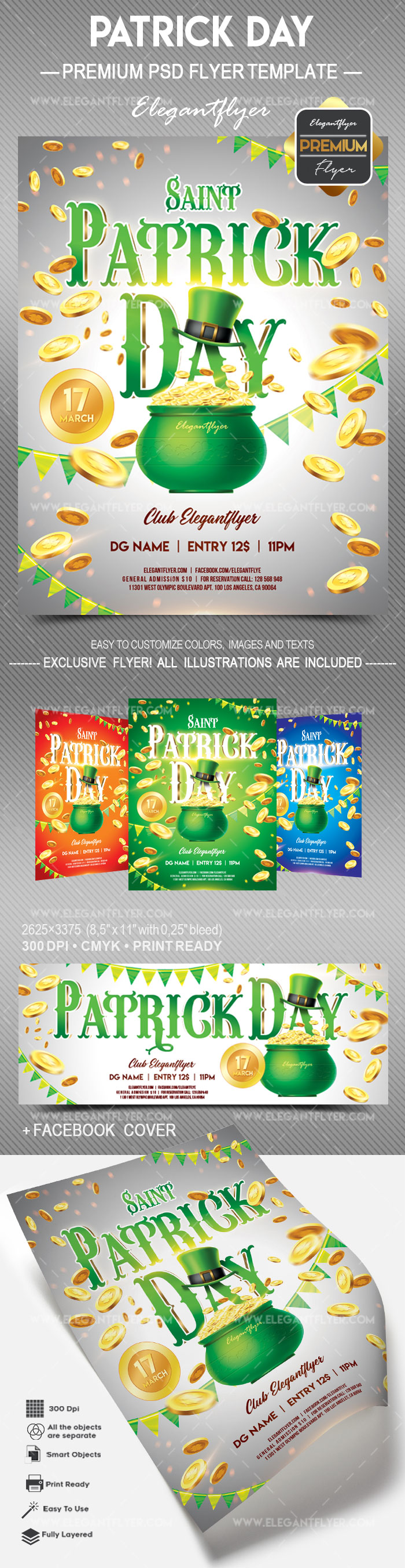 St. Patrick Day V03 – Flyer PSD Template