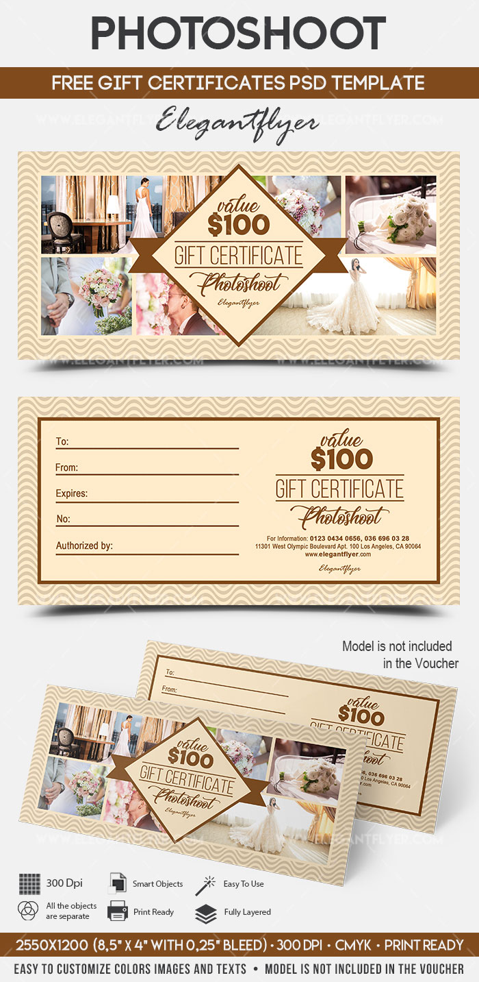 photoshoot  u2013 free gift certificate psd template  u2013 by
