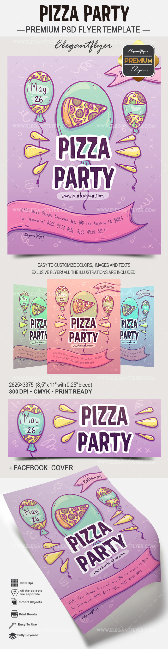 Poster for Pizza Party