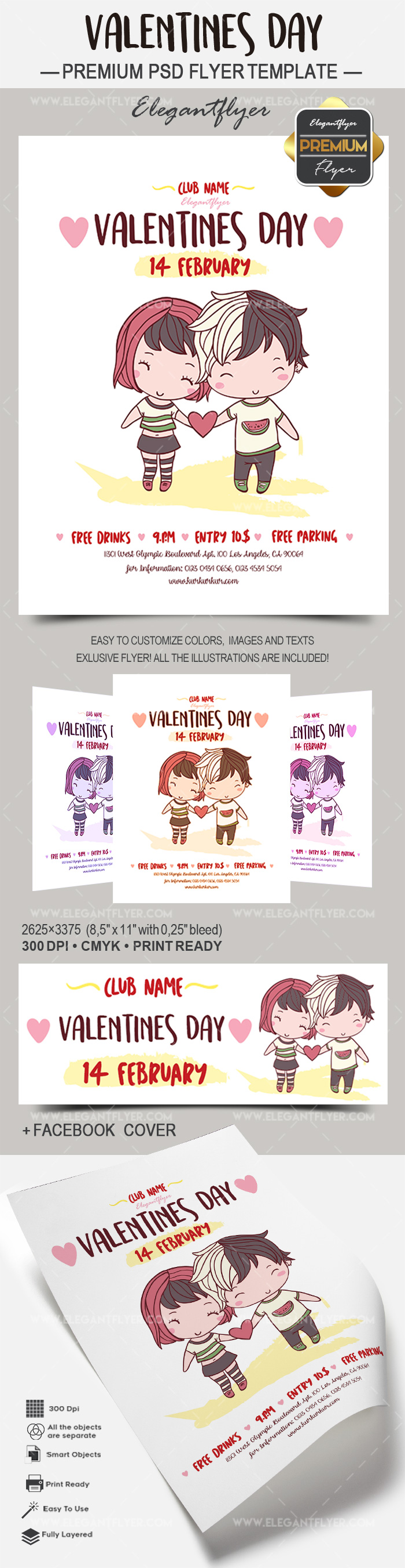 PSD Valentine Day for Lovers Template