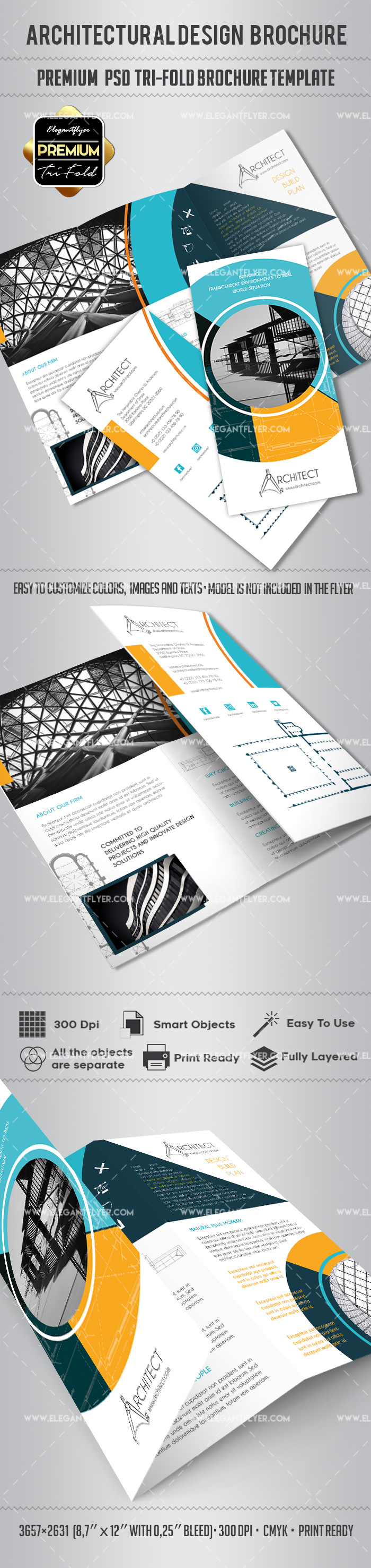 Architectural Design Tri-Fold Brochure