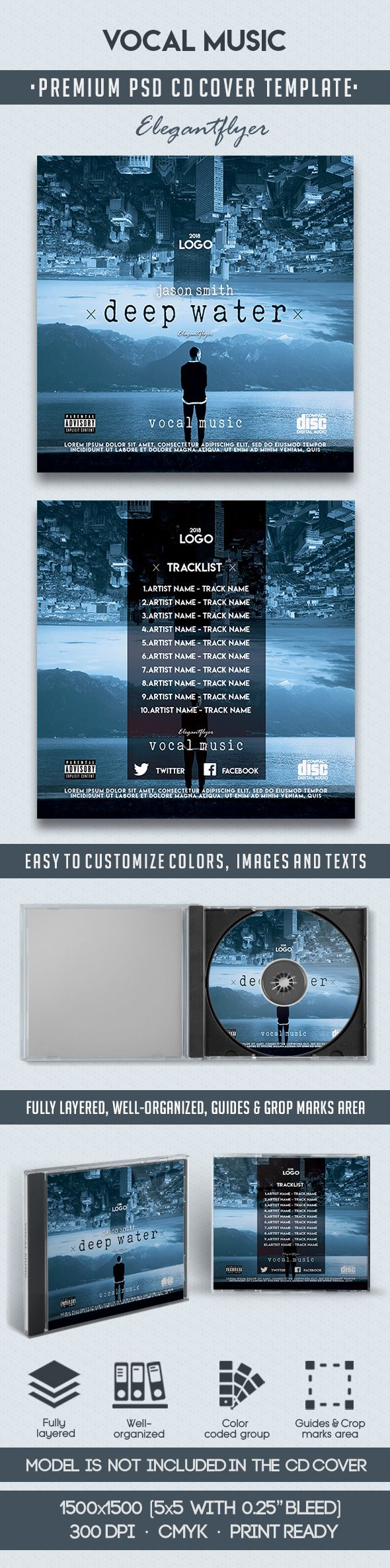 Vocal Music – Premium CD Cover PSD Template