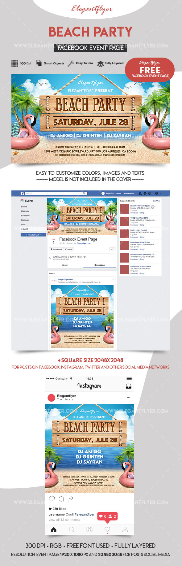 Beach Party – Free Facebook Cover