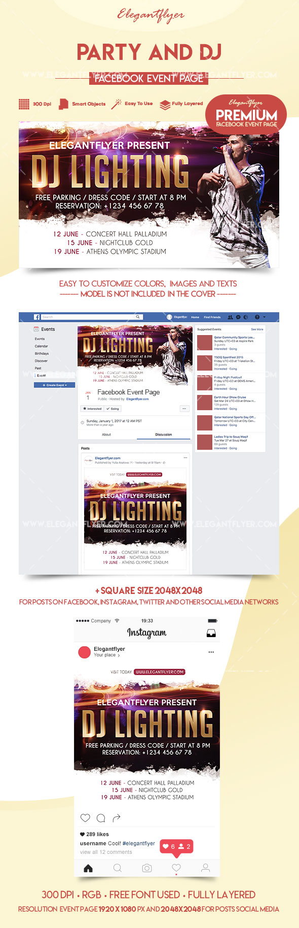 Party and DJ – Premium Facebook Event Page