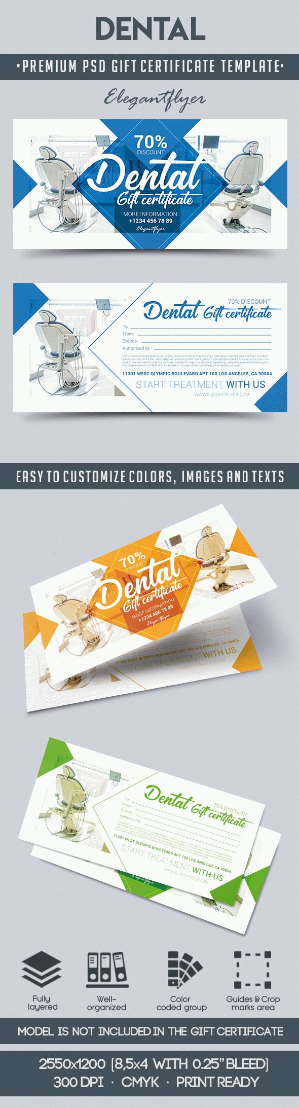 Dental gift voucher by elegantflyer for Dental gift certificate template