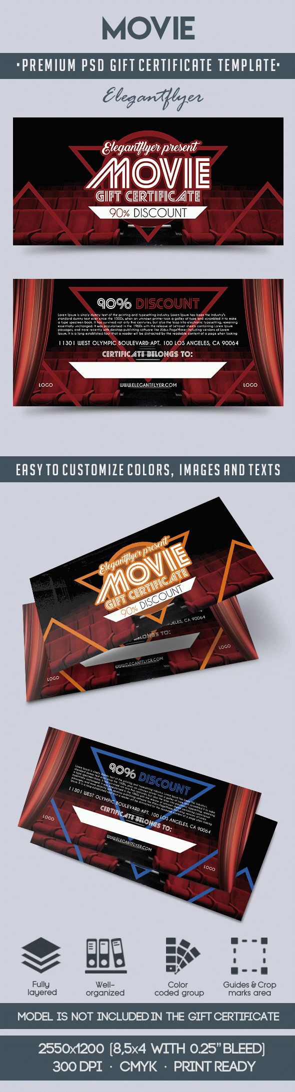 Gift Certificate For Movie By Elegantflyer
