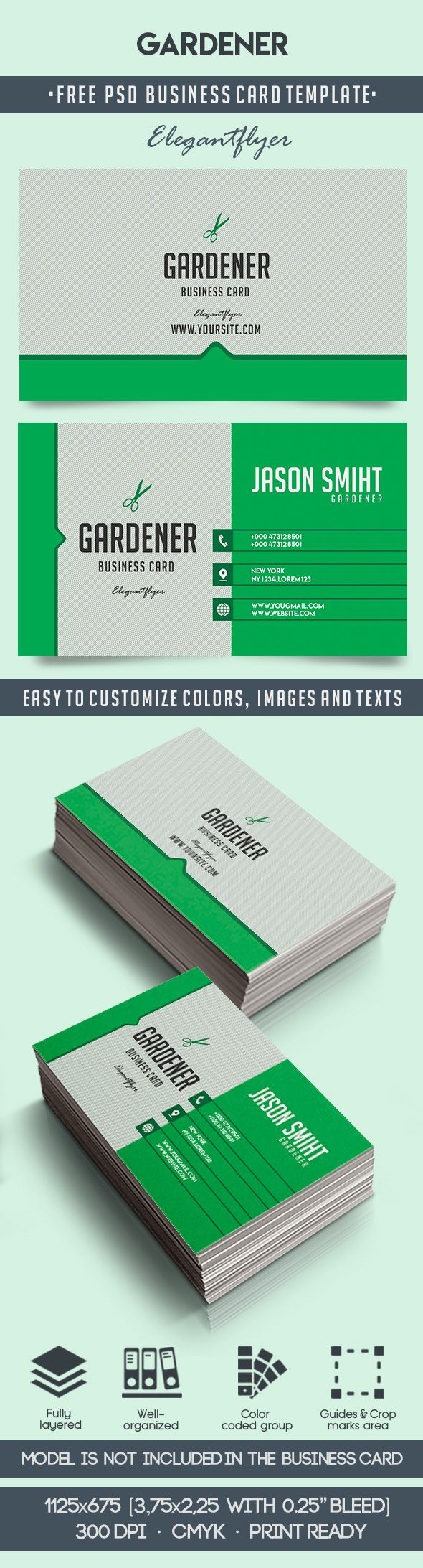 gardener  u2013 free business card templates psd  u2013 by elegantflyer