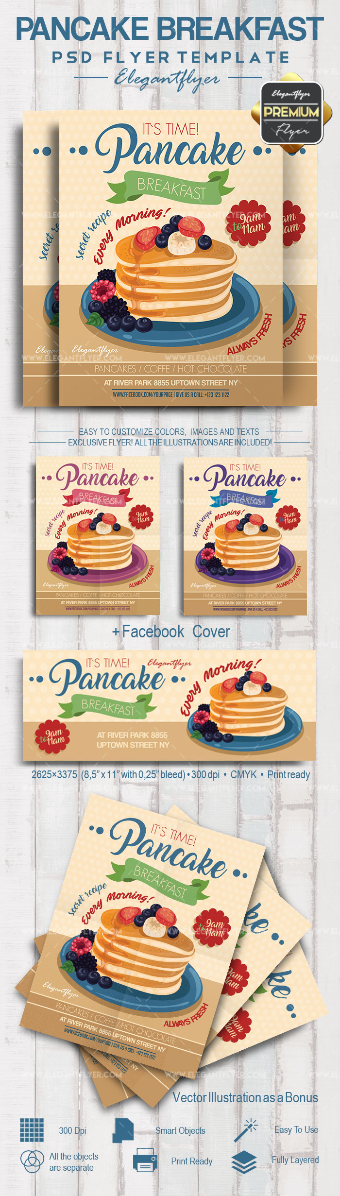 Pancake Breakfast – Flyer PSD Template