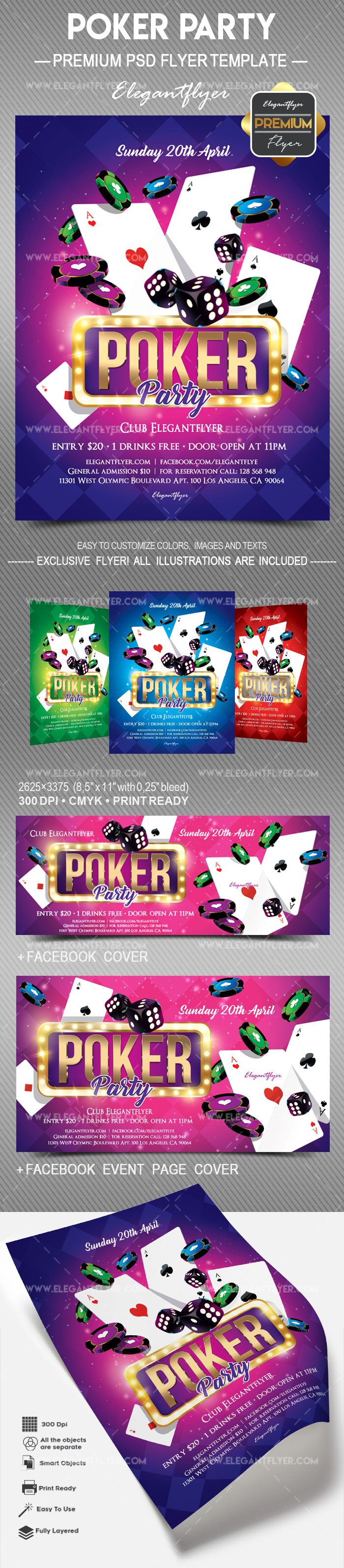 Poker Party – Flyer PSD Template